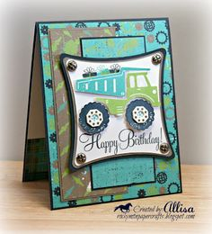 Allisa Chilton's fab boy birthday card... using the new CTMH Later Sk8r papers and Fast and Furious stamp set!  Love it!  ♥