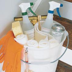 "The definitive list of supplies that everybody should have under their sink, from ""Martha Stewart's Homekeeping Handbook."""