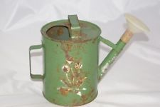 Vintage Soviet Russian Children's Metal Tin Watering Can Garden Tool Toy USSR