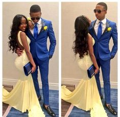 Yellow Prom Dress,Backless Prom Dress,Fashion Prom Dress,Sexy Party Dress,Custom Made Evening Dress - Evening Dresses Navy Blue Prom Dresses, Backless Prom Dresses, Yellow Prom Suit, Prom Photos, Prom Pictures, Outfit Graduacion, Prom Date, Homecoming, Prom Goals