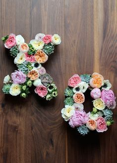 7. Floral monogram: A fabulous statement piece, floral monograms are a great way to put a personal stamp on your Big Day. DIY by Honestly Yum
