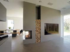 Galerie – Baufeuer Brandherm GmbH – Fireplaces, tiled stoves, stoves and gas fireplaces from master hand – Janneke Veenbergen – by menzilpin Open Fireplace, Fireplace Wall, Fireplace Design, Room Interior, Interior Design Living Room, Style At Home, Style Tile, Home Fashion, Sweet Home