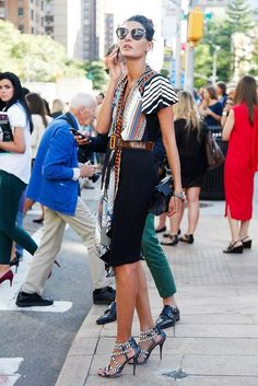 This whole outfit. I love that the incredible Bill Cunningham is in the background! Can't miss him in the blue jacket :)