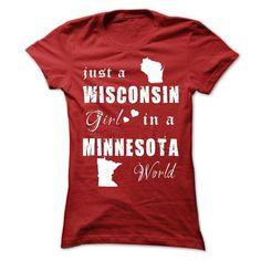 Wisconsin - Minnesota #stateshirts #statehoodie #tshirts #hoodie #Wisconsin #Wisconsintshirts #Wisconsinhoodies