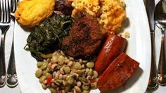 giving lots of credit to the soul food fest website for this picture of yummy soul food.. QUESTION: How many calories you think is in this plate of food? My Answer too many to count