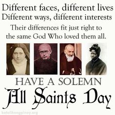 All saints day...