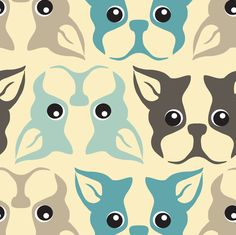 The Gang by sugarxvice Boston Terrier fabric on spoonflower.com