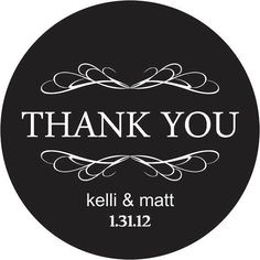 Thank You Wedding Stickers Personalized with your par LabelsRus, $19.95