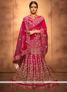 Winsome Hot Pink A Line Lehenga Choli  Email - support@ethnicoutfits.com Call - +918140714515 What's app/Viber- +918141377746