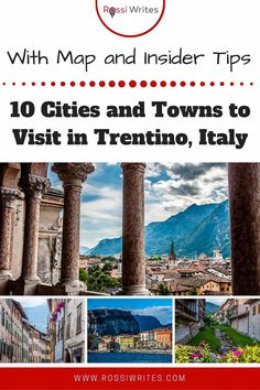 Pin Me - 10 Cities and Towns to Visit in Trentino, Italy (With Map, Photos, and Insider Tips) - rossiwrites.com Best Travel Guides, Travel Tips, All About Italy, Travel Articles, Vacation Destinations, Where To Go, Family Travel, Europe, Map