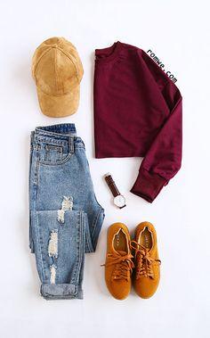 Rust Long Sleeve Sweatshirt