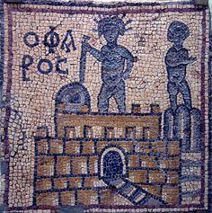 El faro de Alejandría - Mosaico bizantino procedente de las ruinas de Olbia-Teodoria (Libia) que representa el faro de Alejandría - Juan Carlos Casado (Museo de Qasr Libya, siglo VI)