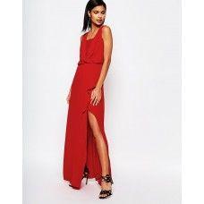 BCBGMaxAzria Sleeveless Maxi Dress with Lace Insert