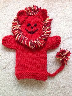 Musings of the Puppet Lady: Lion Puppet Knitting Pattern