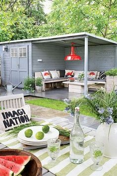 New garden shed with pergola seating areas Ideas Outdoor Rooms, Outdoor Living, Outdoor Decor, Back Gardens, Outdoor Gardens, Outside Living, Garden Seating, Backyard Seating, Garden Inspiration