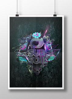 - Subsoil No.2 -  Visual for Leveltrauma's Subsoil No. 2 // http://bork81.com/ #cgi #visual #techno #flyer #poster #bork81 #sebastianbork #blender3d #cycles #photoshop