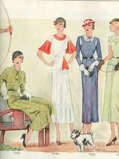 Chic 1933 women's fashions