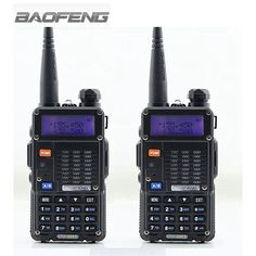 compare prices 2 pcs baofeng uv 5rt walkie talkie black 128 memory channels dual band vhf uhf 136 174 #vhf #channels