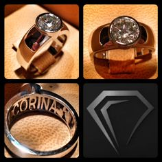 Corina's ring is done! Her old diamond now has new style and new meaning in this sleek and sexy ring she can proudly wear every day!