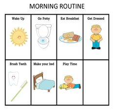 ourhomecreations: Morning and Nightime Routine Charts