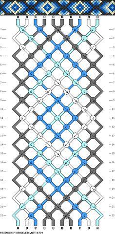 10 strings, 22 rows, 4 colors