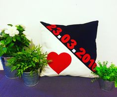 What's your special date? Celebrate it with a pillow! #handmade #custommade #pillows #gifts #home #decoration #anniversary #celebrate #elyapimi #kisiyeozel #yastik #hediye #yildonumu #ordernow via HOUSE OF SERBAN ❤️❤️❤️