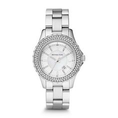 Sale  Madison Mini Silver Tone Glitz Watch The stainless steel trend is everlasting. Incorporate it with this Michael Kors watch, complete with sparkling crystals.Click to View Our Michael Kors 2-Year Warranty