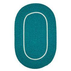 Viv + Rae Jay Hand-Woven Teal Indoor/Outdoor Area Rug Rug Size: Oval 7' x 9'