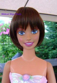 Wig My Size Barbie 12 13 Kara Lynn Wig Brown   eBay