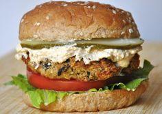 High Protein Baked Eggplant Burger (Vegan)!
