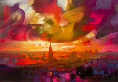 Glasgow Sky Limited edition print of a painting by Scott Naismith