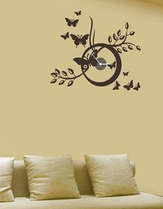 ever heard of pasting your clock on the wall yes you can do the same designer clocksonline - Designer Wall Clocks Online