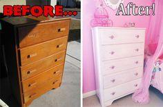 Austin Liz Stays Home: Refurbishing the World's Stinkiest Dresser- Girls Room Post #3