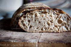 Chleb wiejski Tartine – food to warm the soul Country Bread, Cooking Recipes, Warm, Food, Chef Recipes, Essen, Meals, Yemek, Eten