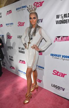Raja on the red carpet of the premiere or RuPaul's Drag Race, Season 5.