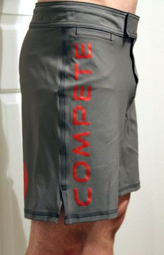 Men's poly-elastine shorts. Breathe. Rock your next workout or run. #Compete