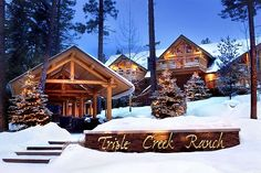 Triple Creek Ranch in Montana - has tons of activities from dog sledding to white water rafting