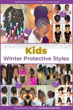 Kids Winter Protective Hairstyles Protect your kids hair with these easy winter protective styles. Curated from the most talented hairstylists.Protect your kids hair with these easy winter protective styles. Curated from the most talented hairstylists. Black Kids Hairstyles, Natural Hairstyles For Kids, Baby Girl Hairstyles, Kids Braided Hairstyles, Protective Hairstyles, Cute Hairstyles, Toddler Hairstyles, Children Hairstyles, Natural Hair Care
