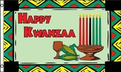 KWANZAA FLAG 3x5 cloth poster banner ** This is an Amazon Affiliate link. Want additional info? Click on the image.