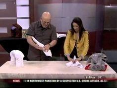How to make towel origami / towel folding elephant. (free!)
