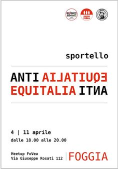 MEETUP I GRILLI DI FOGGIA: Lo Sportello ANTIEQUITALIA CONTINUA !!!