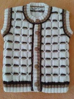 This Pin was discovered by Şaz Baby Knitting Patterns, Knitting Stitches, Knitting Designs, Baby Patterns, Crochet Baby Booties, Baby Cardigan, Knitting For Kids, Baby Sweaters, Kids Outfits