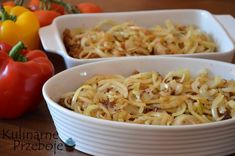 Karkówka zapiekana z pieczarkami i cebulą w sosie pomidorowym Macaroni And Cheese, Spaghetti, Yummy Food, Ethnic Recipes, Impreza, Content, Foods, Food Food, Mac And Cheese