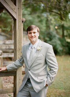 light gray suit | Melissa Schollaert #wedding | See more about Suits.