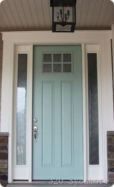 front door 320 sycamore -- color is Tidewater by Martha Stewart by tonya