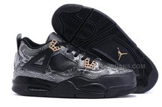 new products a6c05 c7bc4 2016 Air Jordan 4 Black Snakeskin Black Grey For Sale, Price   93.00 -  Jordan Shoes - Michael Jordan Shoes - Air Jordans - Jordans Shoes