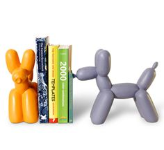 Hot dog! Jeff Koons-inspired bookends by IMM Living.