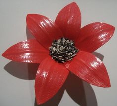 Cool duct tape flower