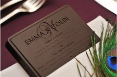 Edible Menu... just needs to be branded on a steak! :D