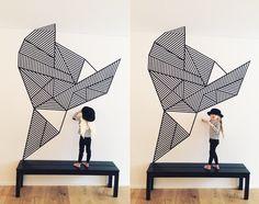 Masking Tape Art Walls Masking Tape Wall Art | by …